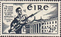 Postage Stamps of Eire Ireland 1941 Eire Issue SG 128 Easter Rising Fine Used Scott 120 Stamps For Sale Take a Look