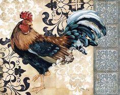 Renaissance Rooster II Canvas Print / Canvas Art by Paul Brent