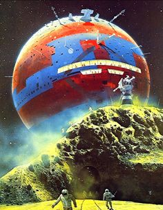 Spherical Spaceship by Chris Foss.  #SpaceShips  #Starships  #ChrisFoss