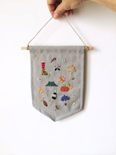 Hand embroidered autumn/fall season theme by BaobapHandmade
