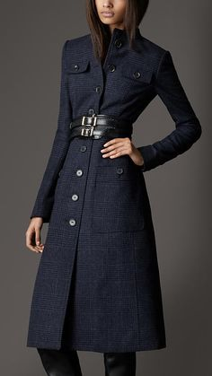 Burberry London Bow Detail Wool Coat