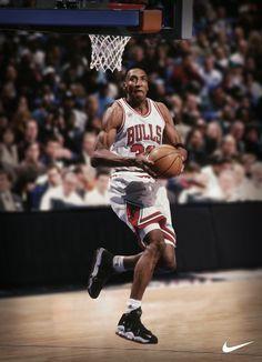 The original Nike Scottie Pippens. #boss.