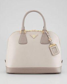 Prada Saffiano Bicolor Dome Bag @}-,-;--