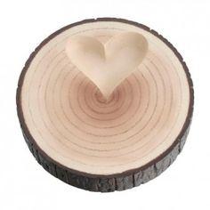 Cuscino portafedi originale a forma di tronco d'albero per un matrimonio a tema autunnale!