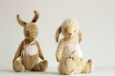 Valentine's Day - Mohair Bunny Valya Artist Teddy Bears - Stuffed Rabbit - Soft Toy Bunny - Stuffed Animal