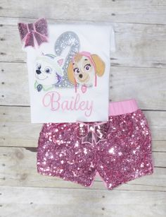 Skye and Everest birthday outfit, Paw Patrol birthday outfit Skye tutu,character. skye shirt, Pup birthday shirt, Paw patrol birthday outfit by MommaMays on Etsy https://www.etsy.com/listing/473099842/skye-and-everest-birthday-outfit-paw