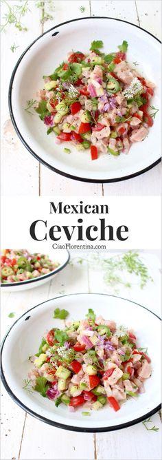 Authentic Mexican Ceviche Recipe with Tomato and Cucumber | CiaoFlorentina.com @CiaoFlorentina
