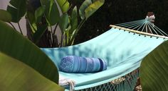 A hammock it's like a giant net for catching lazy happy people :)