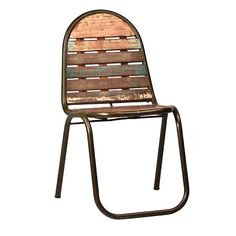 NEW to MIX Furniture! We have tons of these adorable chairs that feature distressed paint on reclaimed wood and mid-century styled iron frames. They're already a popular choice - would look great in the home, office or café! mixfurniture.com