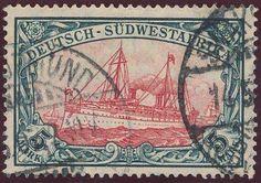 German Colonies, DP-Südwestafrika 1906, 5 Mk., gestempelt Pracht, gepr. Dr. Steuer BPP (gestempelt, Mi.-Nr.32 Aa, Mi.EUR370,--). Price Estimate (8/2016): 120 EUR.