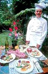 Owner and Chef Albert Jeyte at Kilauea Lodge will cook you the BEST food in Hawaii! This is the most lovely, serene vacation spot in the world. You're treated as family <3!