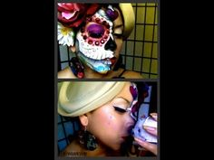 Lost love... Dia de los muertos  (day of the dead) #makeup tutorial  #makeup #day of the dead #halloween #diadelosmuertos #skull #sugarskull #paint  #make-up #sugarpill #cosmetics  #Catrina #beauty #look #Dotd #diy #mexico