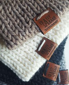 Leather labels 1x2 inches - made from real leather - Personalized , Leather tags , Custom Labels, Knitting Labels, Crochet Labels