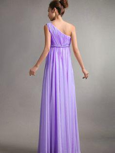 100% Maßgeschneiderte A-Line One Schulter bodenlangen drapierte Lilac Brautjungfer Kleider, freies Verschiffen Preis: US $ 139,59 - VILAVI Kleider