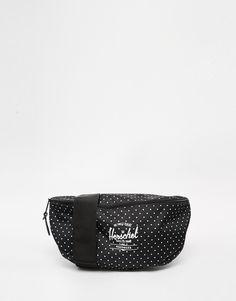 Tasche von Herschel Supply Co markentypisch gefütterter Canvas Reißverschlussöffnung Logo vorne verstellbarer Riemen Nicht waschen 100% Polyester H: 19 cm/7 Zoll B: 35 cm/14 Zoll T: 10 cm/4 Zoll