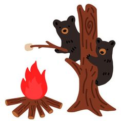 This cute 'Bear Cubs Roasting Marshmallows' desgin is perfect for summer scrapbooks, cards, journalling, decor and much more! Silhouette Design, Silhouette Projects, Wholesale Boutique Clothing, Unicorn Halloween, Roasting Marshmallows, Bear Cubs, Cute Bears, Painted Rocks, My Design
