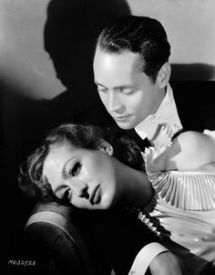 Joan Crawford and Franchot Tone photographed by George Hurrell for Dancing Lady. - Joan Crawford and Franchot Tone photographed by George Hurrell for Dancing Lady - Hollywood Couples, Hollywood Actor, Golden Age Of Hollywood, Vintage Hollywood, Hollywood Glamour, Hollywood Stars, Classic Hollywood, Hollywood Actresses, Hollywood Pictures