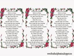 poinsettia poems free | Christmas Cocoa Gift Idea Printable by Kims ...