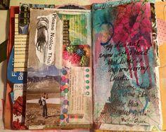 Junk Journal Page (by DawnsRays) Art Journal Pages, Junk Journal, Art Journaling, Journal Covers, Creative Journal, Creative Art, Smash Book, Moleskine, Art Doodle