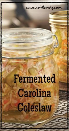 We are totally making this! Fermented foods are sooo good for us! graw approved:)Fermented Carolina Coleslaw - www.ohlardy.com