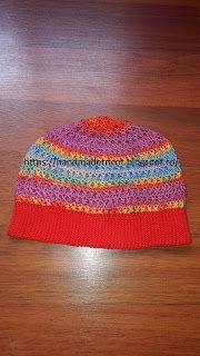 Handmade tricotaje: Caciulita crosetata curcubeu