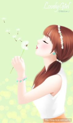 Find images and videos about wallpaper, lovely girl and Enakei on We Heart It - the app to get lost in what you love. Beautiful Fantasy Art, Beautiful Drawings, Cute Drawings, Korean Anime, Korean Art, Anime Korea, Korean Illustration, Lovely Girl Image, Cute Cartoon Girl