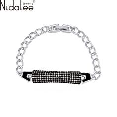 Nidalee Brand New Design Luxury Crystals From Swarovski Circular Bracelets Bangles For Women Weddings Party Jewelry Gift B588