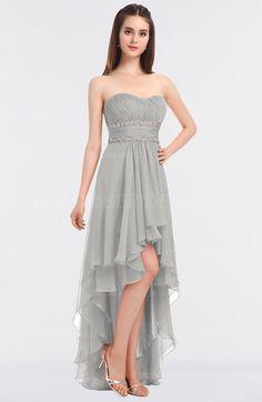 a70bd333e40 Platinum Elegant A-line Strapless Sleeveless Zip up Floor Length Bridesmaid  Dresses (Style D14295