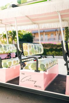 🌟Tante S!fr@ loves this📌🌟A Quick Trip to Palm Beach Palm Beach Decor, Palm Beach Florida, West Palm Beach, Colony Hotel Palm Beach, The Colony Hotel, Bar Piscina, Pink Hallway, Golf Carts, Palm Springs