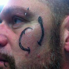 75 Cool Fish Hook Tattoo Ideas - Hooking Yourself with Ink Worth Designs Hook Tattoos, Cool Fish, Fish Hook, Tatting, Black And Grey, Fishing, Hooks, Instagram, Design