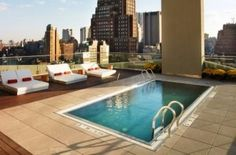 The James Rooftop #pool #NYC Located on the 17th floor of the The James Hotel New York the rooftop pool offers panoramic views of Wall Street.....