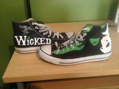Wicked painted converse Artwork by Devon Adams
