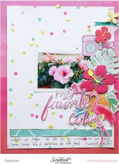FishstickInLove_SBW_Julikit_MyFavoriteColor_01_crop Private Website, Baby Journal, Project Life, Kit, Summer, Scrapbook Layouts, Projects, Design, Crafts