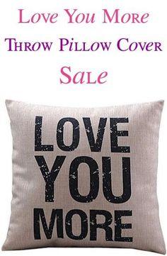 Ouneed Love you More Cotton Linen Cushion Throw Pillow Cover Pillowslip Case Sofa Car home decor capa de almofada quality first Decorative Pillow Cases, Throw Pillow Cases, Sofa Throw, Linen Pillows, Cushions On Sofa, Bed Sofa, Bed Linens, Sofa Chair, Sofa Cushion Covers