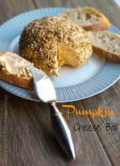 Pumpkin Cheese Ball #Thanksgiving #appetizer