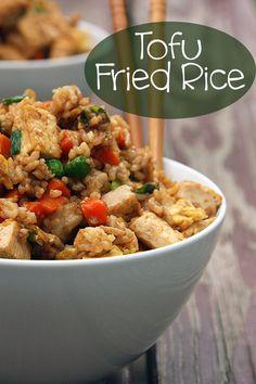Tofu Fried Rice Recipe - On Sugar Mountain
