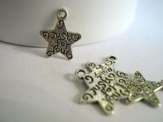 Just For You Silver Tone Charms     (1196)