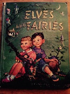 SOLD Vintage 1950's The Giant Golden Book of Elves by MagicMemoriesShop