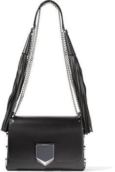 Jimmy Choo - Lockett Petite Leather Shoulder Bag - Black - one size