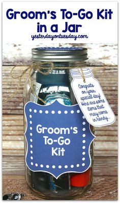 Groom's To Go Kit in a Jar | Yesterday On Tuesday