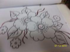 Patron bordado flores mexicano