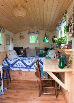 Love the wood in this Caravan.