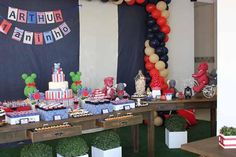 Teddy Bear Boy's First Birthday Party | Spaceships and Laser Beams