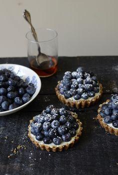 Blueberry Mascarpone Tartlets I love mascarpone with blueberries  :) delightful!
