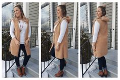 DIY Hooded Vest – Excessively Sew Hooded Vest, Vest Pattern, Diy Sewing Projects, Mink Fur, Diy Fashion, African Fashion, Hoods, Upcycle, Dresses For Work