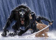 Wet Werewolf by FransMensinkArtist on @DeviantArt