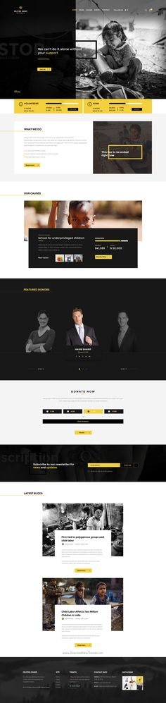 Helping Hands - Multipurpose Non-profit PSD Template by themexriver Template Web, Branding Template, Wordpress Template, Psd Templates, Website Template, Website Layout, Web Layout, Website Ideas, Website Designs