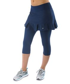 Another great find on #zulily! True Blue Endurance Skirted Yoga Pants - Women & Plus #zulilyfinds