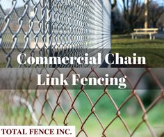 Commercial chain link fencing is an attractive option with variety of colors and heights to build fences for home or office without blocking off visible sight. Fencing Companies, Chain Link Fence, Toronto, Commercial, How To Remove, Industrial, Outdoor Structures, Fit, Easy