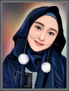 Muslim Girls, Muslim Couples, Muslim Women, Stylish Photo Pose, Stylish Girls Photos, Hijabi Girl, Girl Hijab, People Illustration, Portrait Illustration